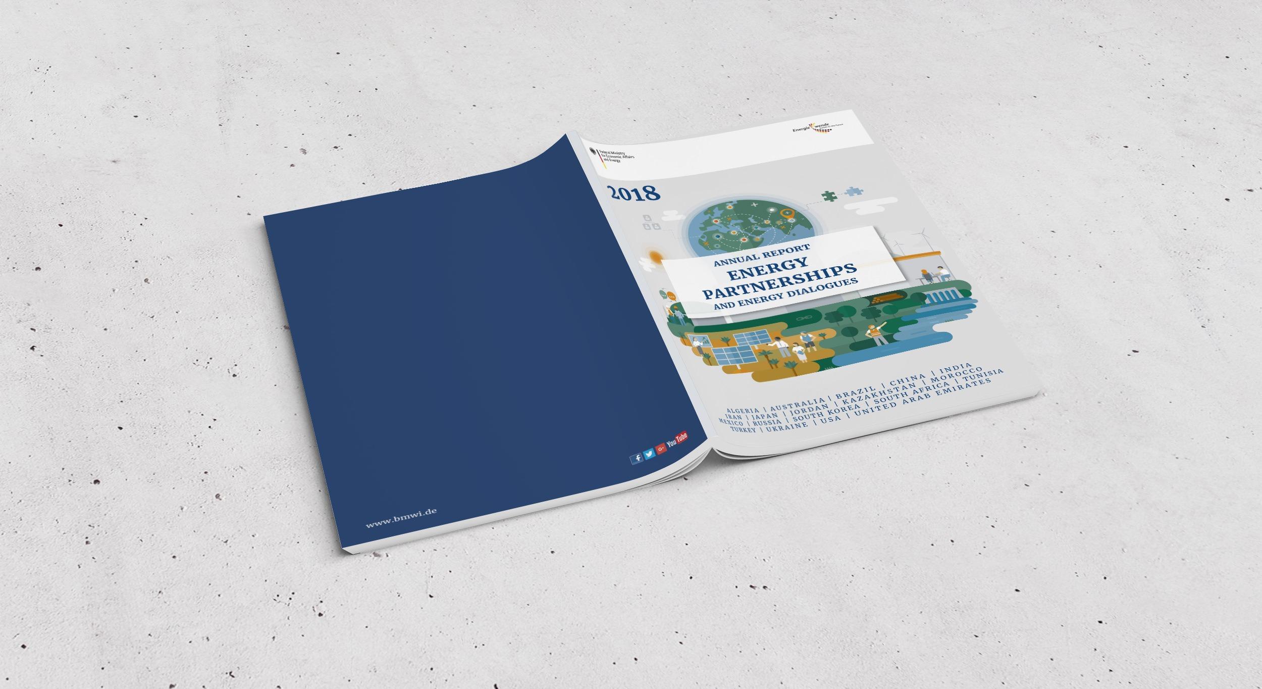 BMWi – Jahresbericht Energiepartnerschaften | Editorial Design, Corporate Publishing