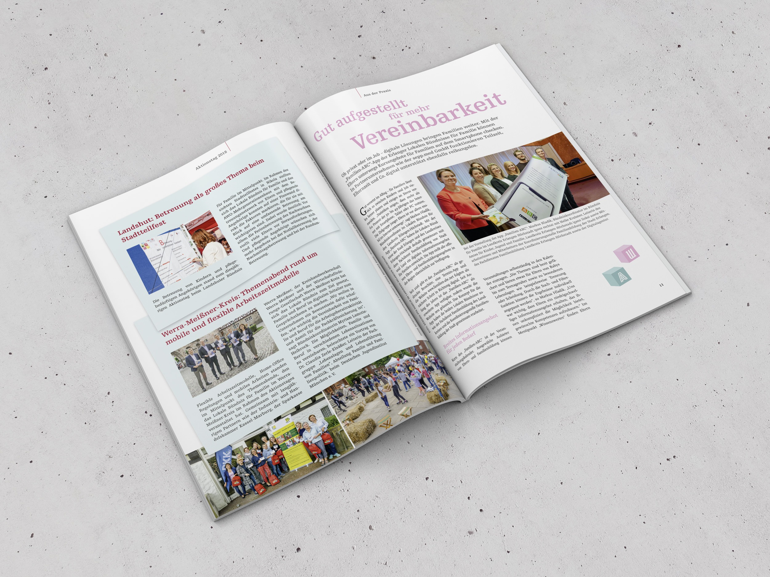 "BMFSFJ – Lokale Bündnisse für Familie – Magazin ""Familie leben."" 