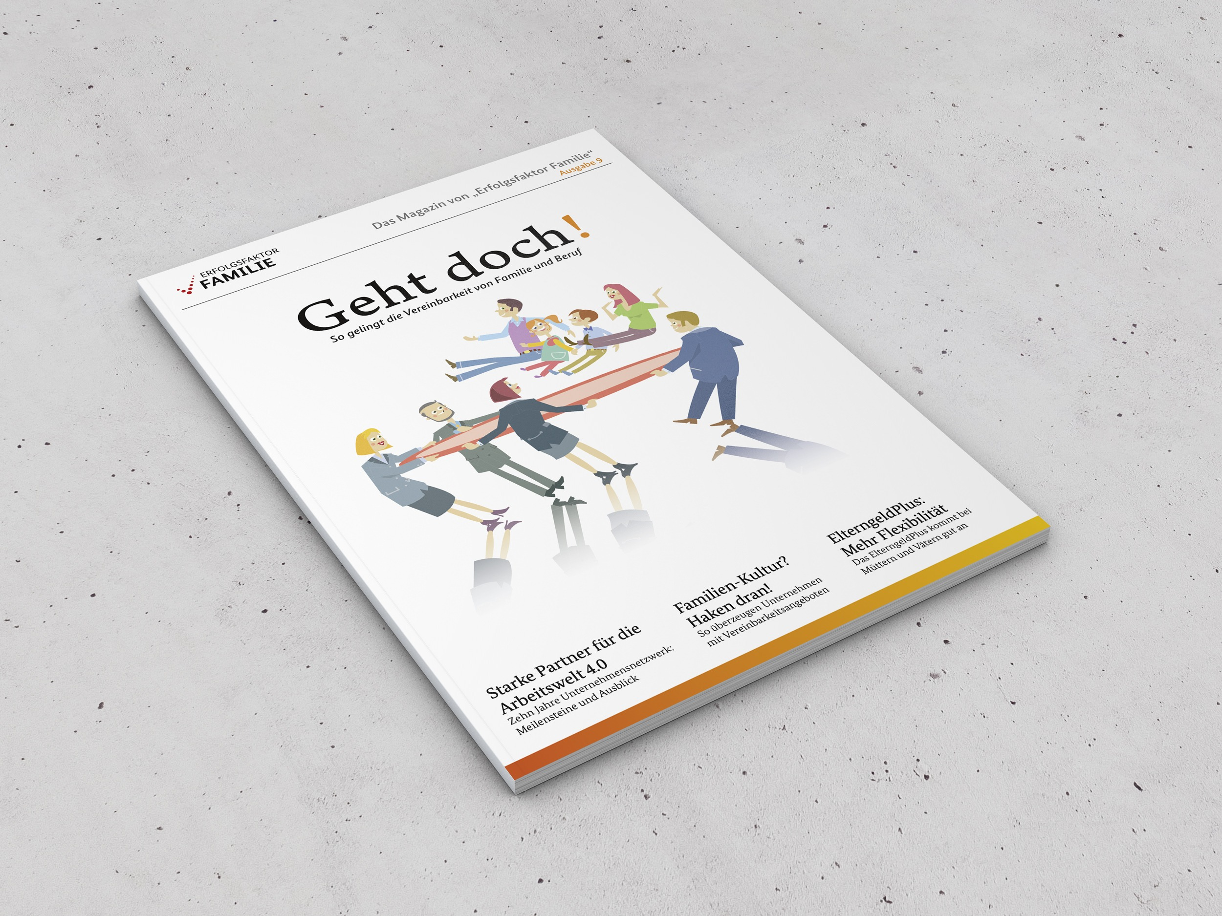 "BMFSFJ – Erfolgsfaktor Familie – Magazin ""Geht doch!"" 