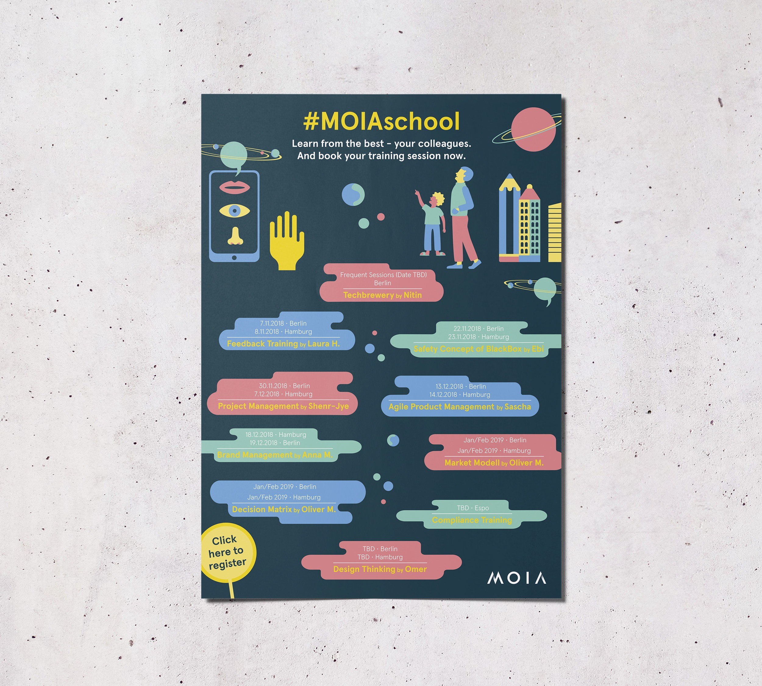 MOIA – Plakat MOIAschool | Corporate Publishing