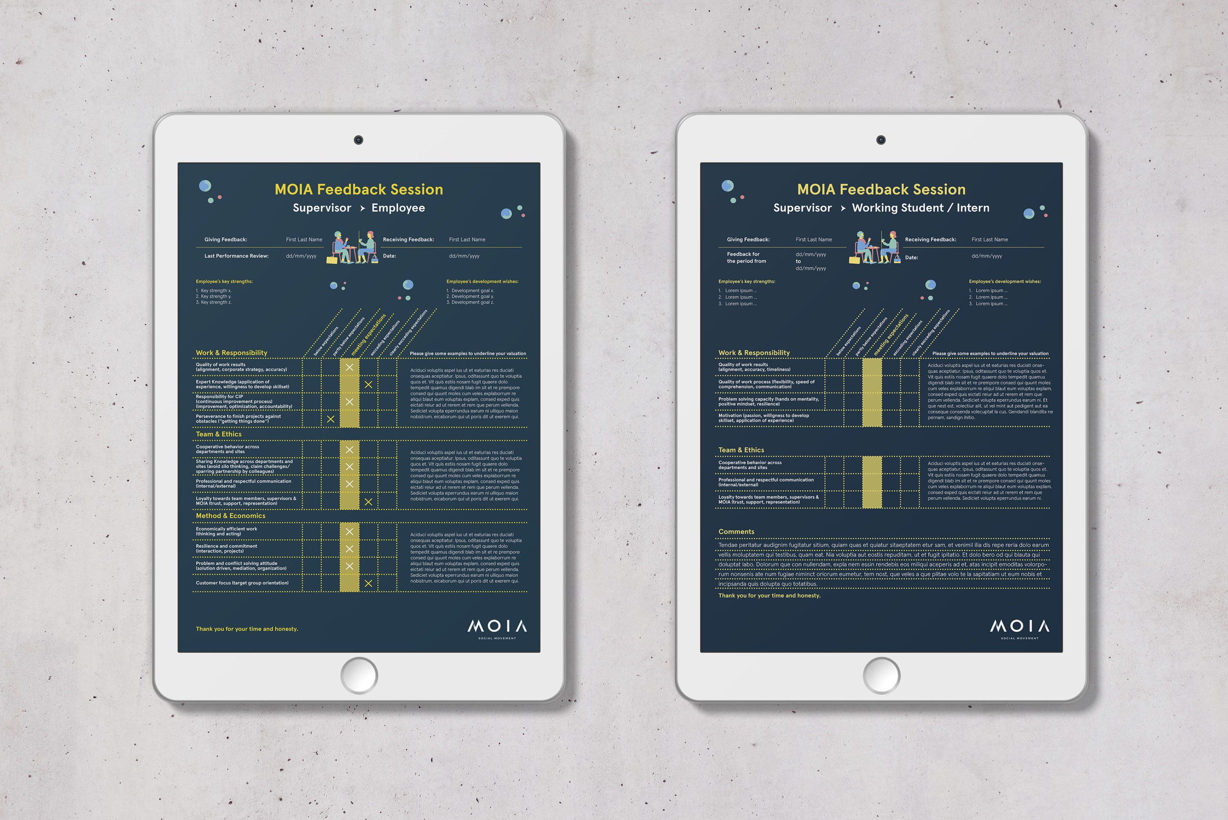 MOIA – Mitarbeiter Feedback Template   print + PDF