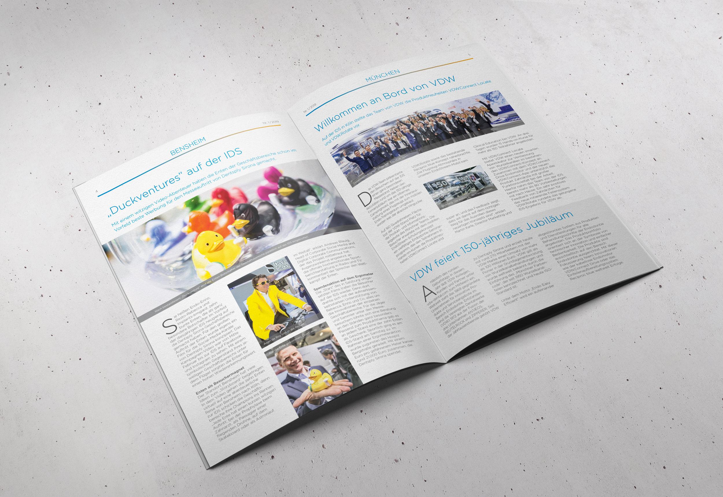 Dentsply Sirona – Magazin Spotlight, Deutschland-Ausgabe | Editorial Design, Corporate Publishing