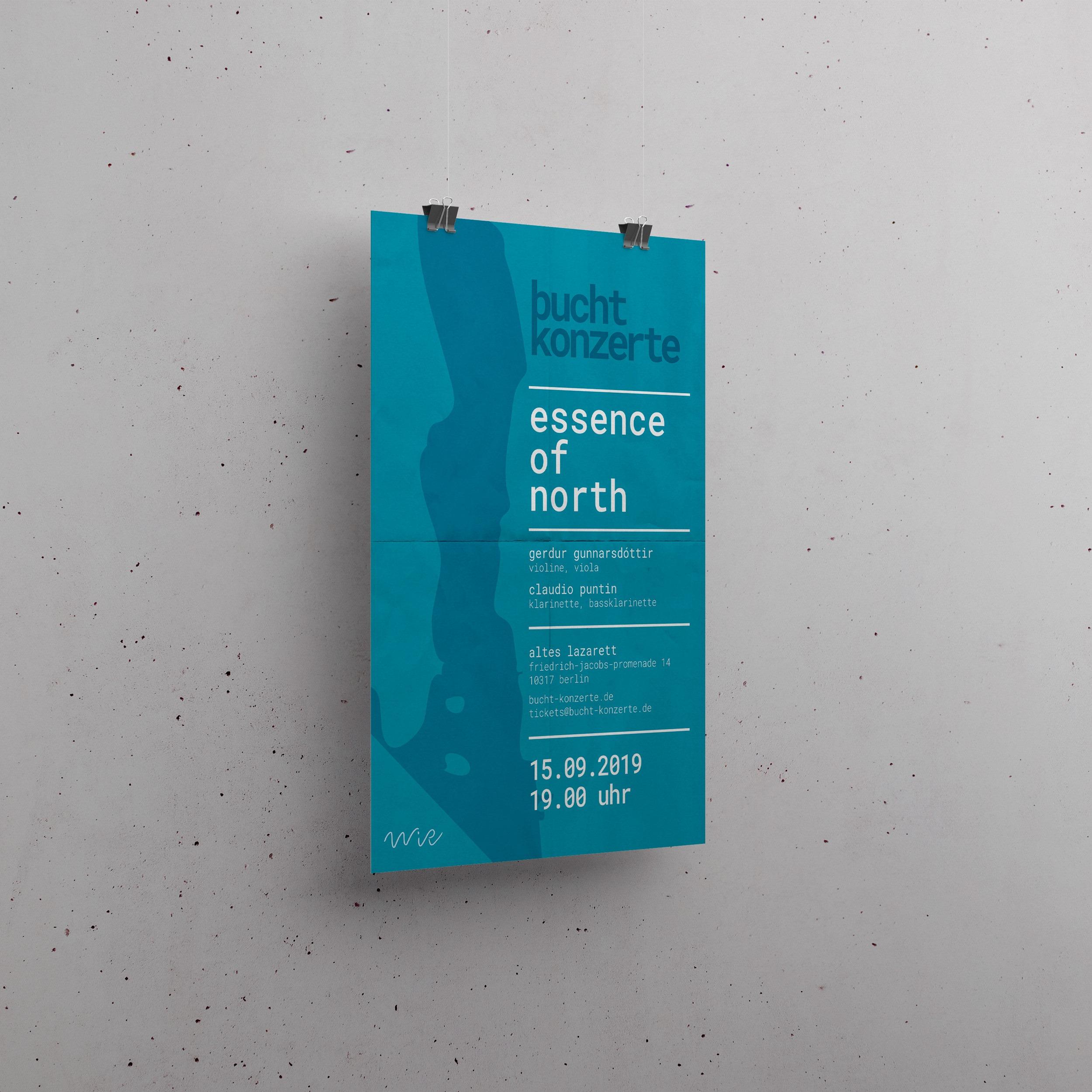 WiR buchtkonzerte | Plakat