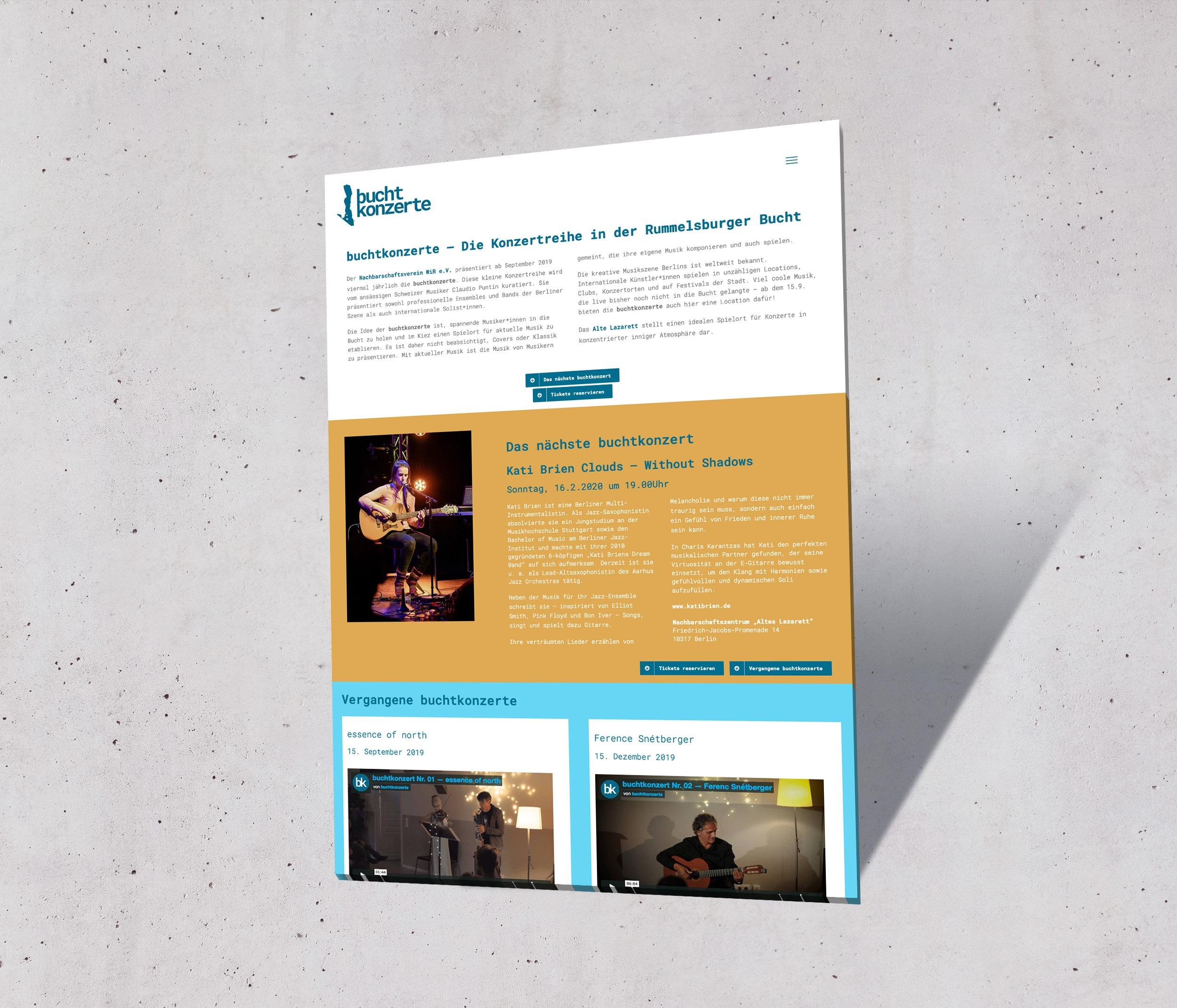 WiR buchtkonzerte | Webseite